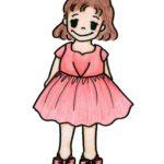シルクシャンタンワンピースドレス